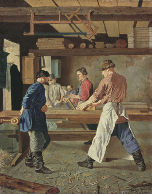 Ignaty Stepanovich Shchedrovsky. Carpentry workshop. 1839