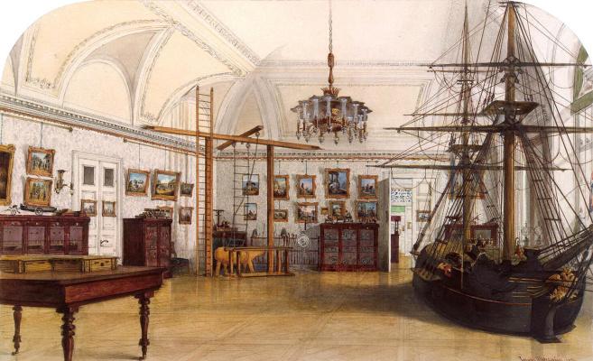 Иосиф Иванович Шарлемань. Виды залов Зимнего дворца. Детская сыновей Николая I или Корабельная