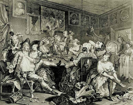 William Hogarth. He feasting, the second state