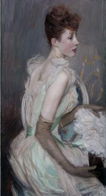 Giovanni Boldini. Portrait of Countess de Lyuss, nee Berthier