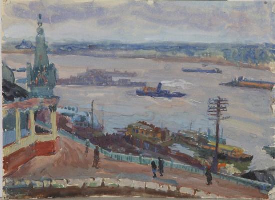 Maria Markovna Dzhagupova. Kama View