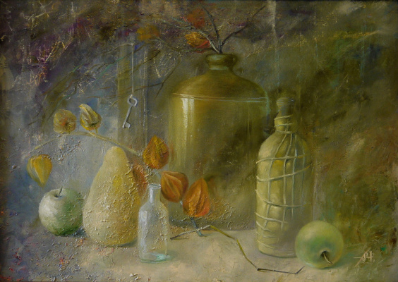 Alexey Chernov. Still Life with Physalis