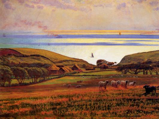 William Holman Hunt. Sunlight over the sea