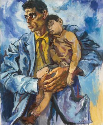 Ренато Гуттузо. Портрет Рокко с сыном