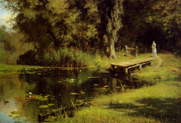 Vasily Dmitrievich Polenov. Overgrown pond