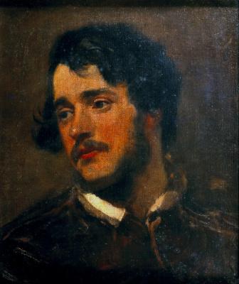 Alfred Emil-Leopold Stevens. Portrait of a man. 1839-1840