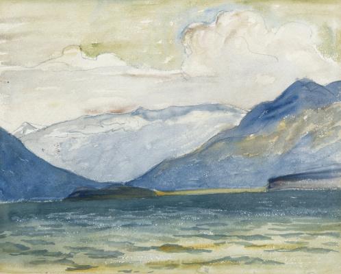 Giovanni Giacometti. Views of lake Sils