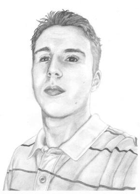 Ирина Владимировна Хазэ. A male portrait, made with graphite pencils.