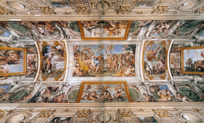 Annibale Carracci. Frescos of the Gallery Farnese, general view