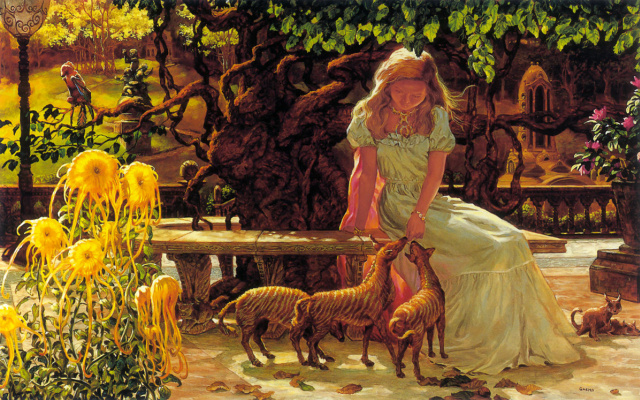 Гнемо. Девочка в саду