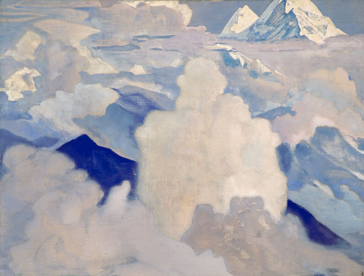 """Nicholas Roerich. White and heavenly. From the series """"His country"""""""