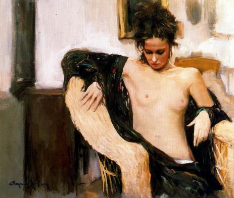 Каэтано де Аркер Буигас. Девушка с черной шалью