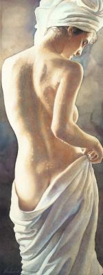 Steve Hanks. After a shower