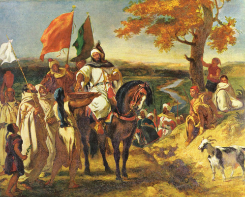 Eugene Delacroix. Moroccan Sheikh is visiting your clan