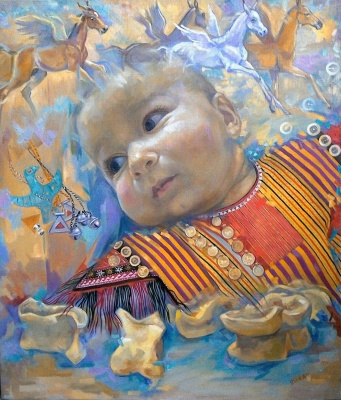 Suray Muradovna Akmuradova. My Golden baby is cute