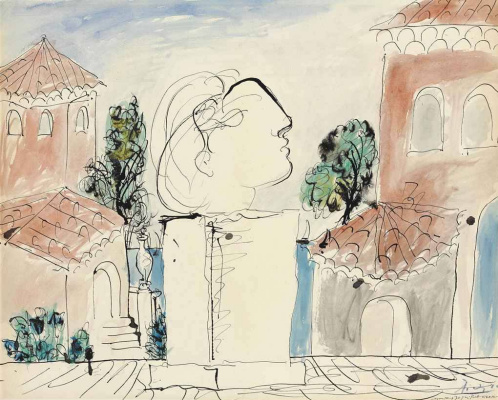 Pablo Picasso. On the terrace