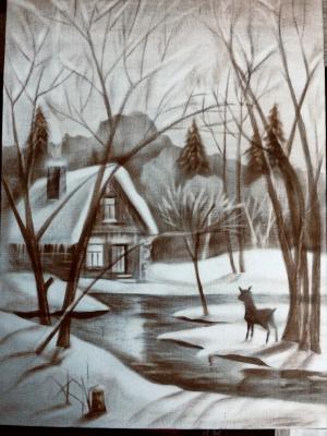 Игорь Влади Кузнецов. Winter fairy tale. Came to the haze.