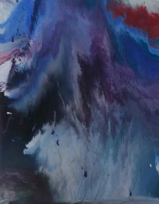 "Alla Struchayeva. Painting ""Ocean in the Universe"""
