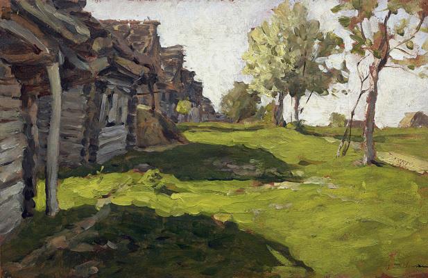Isaac Levitan. Sunny day. Village