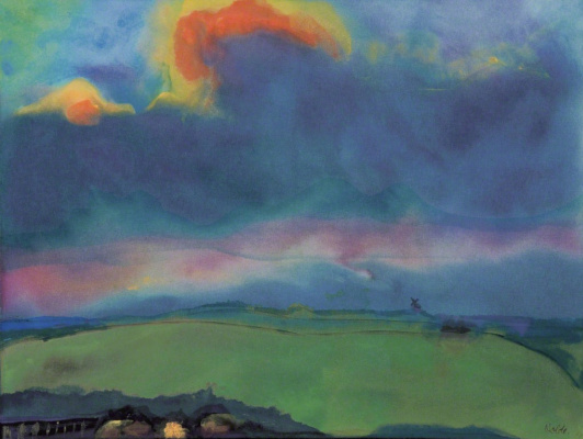 Emil Nolde. Evening landscape