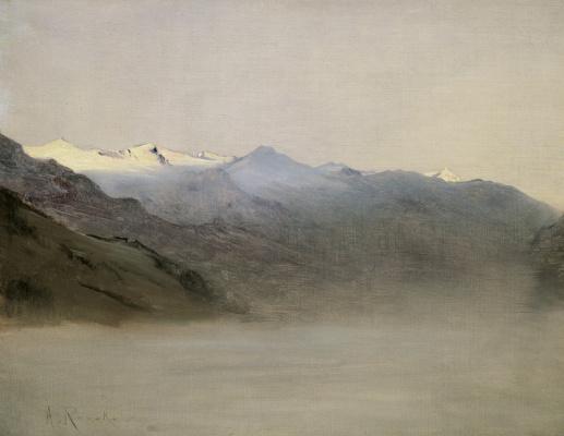 Антон Ромако. Долина гаштайн в тумане