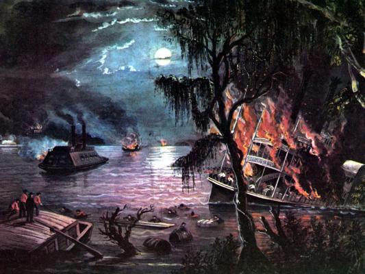 Фанни Палмер. Миссисипи во время войны