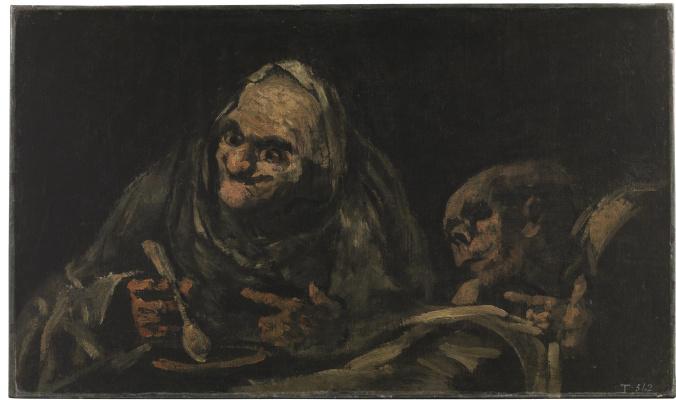 Франсиско Гойя. Два старика за едой
