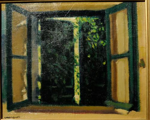 Albert Marquet. Window, vine-covered.