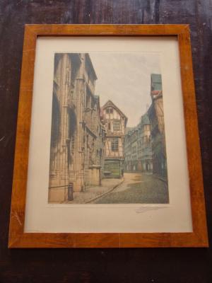 "Unknown artist. ""Rue St. Romain In Rouen""."