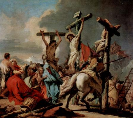 Giovanni Domenico Tiepolo. The crucifixion