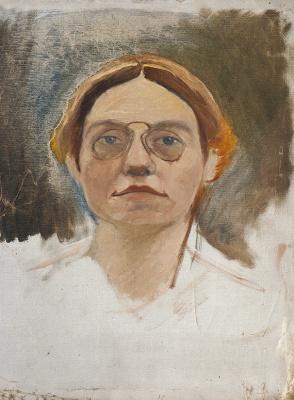 Екатерина Василевна Гольдингер. Учительница. 1906-1908 37 х 50