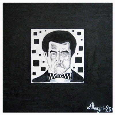 Алексей Гришанков (Alegri). Kazimir Malevich in his black square