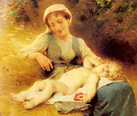 Жан Леон Базиль Перро. Мать и спящий ребенок