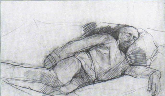 Валентин Александрович Серов. Портрет спящего Саввы Мамонтова