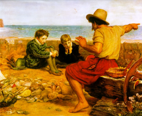 John Everett Millais. The childhood of sir Walter Raleigh