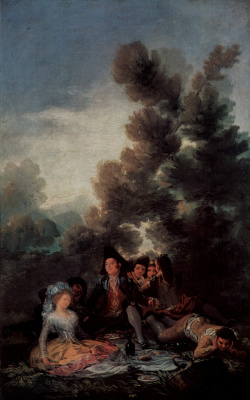 Francisco Goya. The sketches for tapestries for the Royal palaces, the Prado and the Escorial. Afternoon tea in the lap of nature