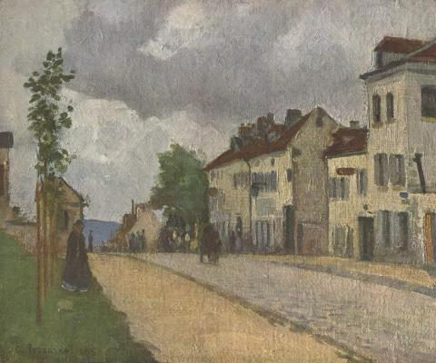 Camille Pissarro. Street in PONTOISE