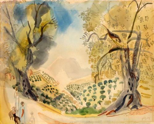 Нахум Гутман. Пейзаж в Галилее