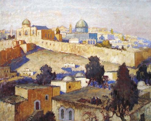 Константин Иванович Горбатов. Иерусалим. 1935