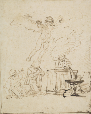 Рембрандт Харменс ван Рейн. Жертвоприношение Маноя