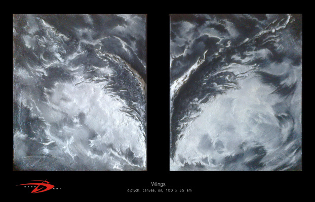 Domian Dybo. Wings (diptych)