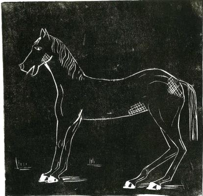Люсьен Фрейд. Лошадь