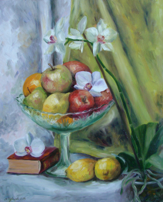 Екатерина Шувалова. Фрукты и орхидея