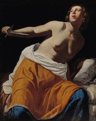 Artemisia Gentileschi. Lucretia