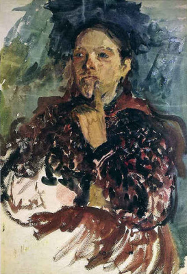 Philip Andreevich Malyavin. The woman