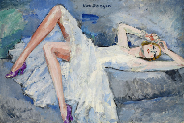 Kees Van Dongen. Purple shoes
