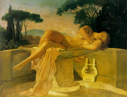 Paul Delaroche. The girl in the pool