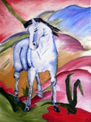 Сергей Николаевич Ходоренко-Затонский. Blue horse