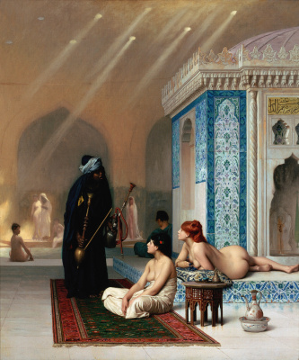 Jean-Leon Jerome. Pool in a harem