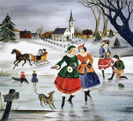 Марта Каун. Катание на коньках в Новой Англии